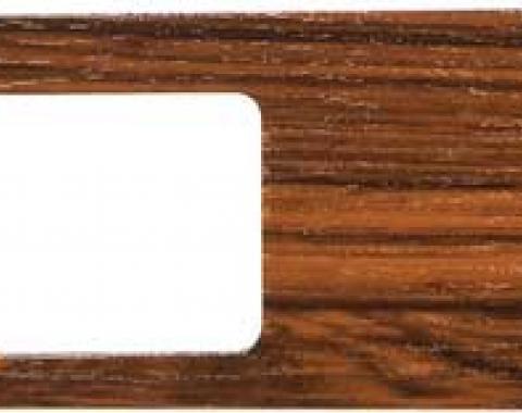 OER 1969 Camaro Woodgrain Wiper Switch Dash Plate - Cherrywood 3945971