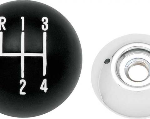 "OER Black 4-Speed Shift Knob with 3/8""-16 Thread 3961437A"