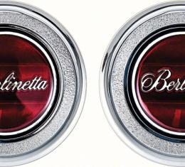 OER 1979-81 Camaro Red Berlinetta Interior Door Panel Emblems K74308