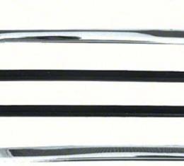 OER 1967-69 Camaro / Firebird Quarter Window Vertical Chrome Moldings K1039
