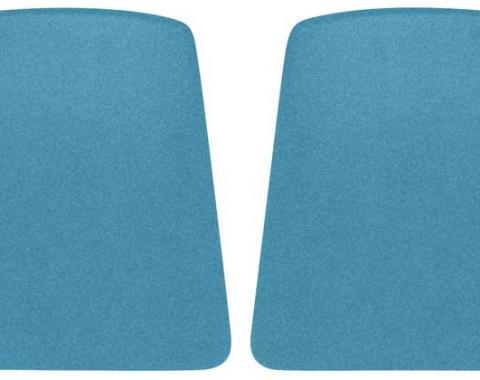 OER 1968 Camaro Medium Blue Bucket Seat Back Panels K1075