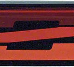 OER 1982-84 Camaro Z28 Red Rocker Panel Emblem 20336591