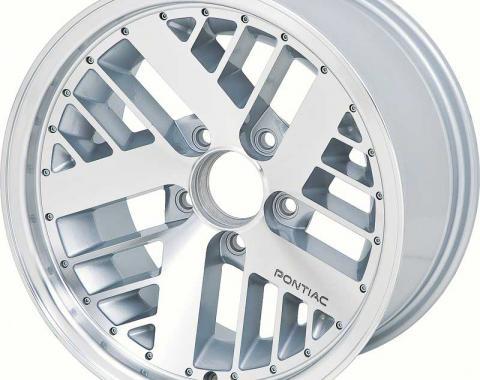 "OER 1967-92 Firebird / Trans AM 16"" X 8"" Hi-Tech Deep Dish Turbo Wheel With Silver Inserts 10089686"