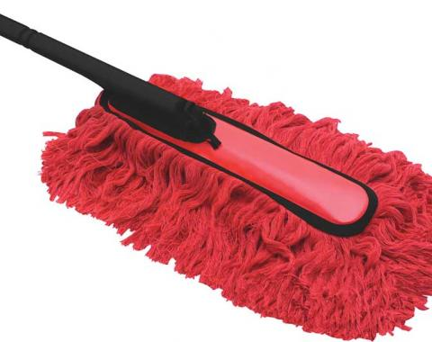 """OER Large Economy Car Duster, 24"""" Long Overall, Mop Head 14"""" Long - Plastic Detachable Handle 62441"""