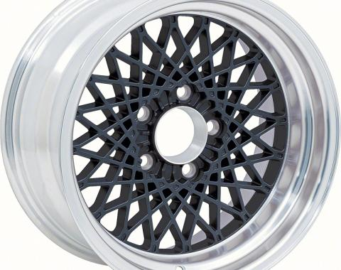 "OER 16"" X 8"" Black GTA Style Alloy Wheel with 4-3/4"" Backspacing and 0mm Offset 10104410"