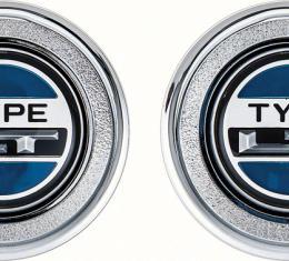 OER 1974-78 Camaro Type LT Interior Door Panel Emblems K74302