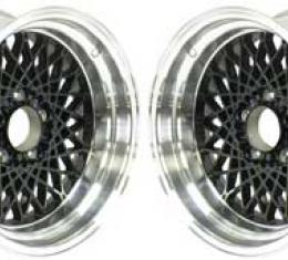 """OER 16"""" x 8"""" Black GTA Style Alloy Wheel Set with 4-3/4"""" Backspacing and 0mm Offset *R4410"""