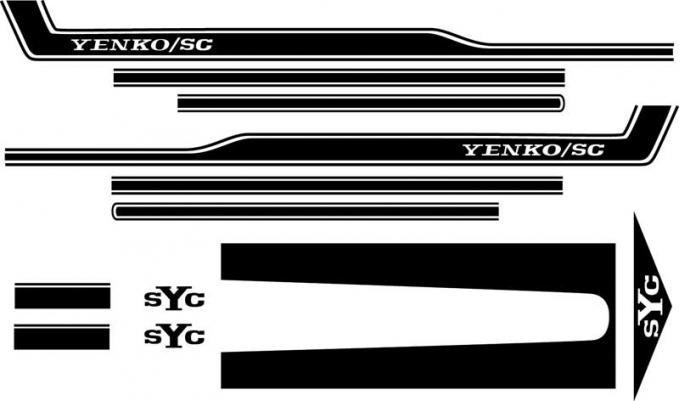OER 1969 Camaro Black SYC Yenko Stripe Set SK301
