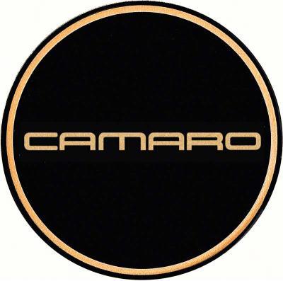 "OER 2-1/8"" GTA Wheel Center Cap Emblem with Gold Camaro Logo and Black Background K151766GD"