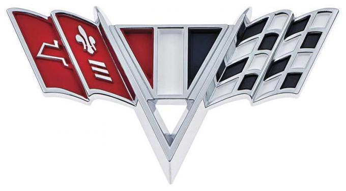 OER 1964-67 V-Flag Front Fender Emblem 3840318