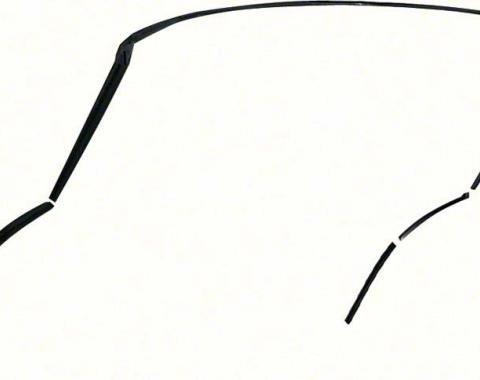OER 1967-69 Camaro / Firebird Convertible 5 Piece Roof Rail Weatherstrip Set K165