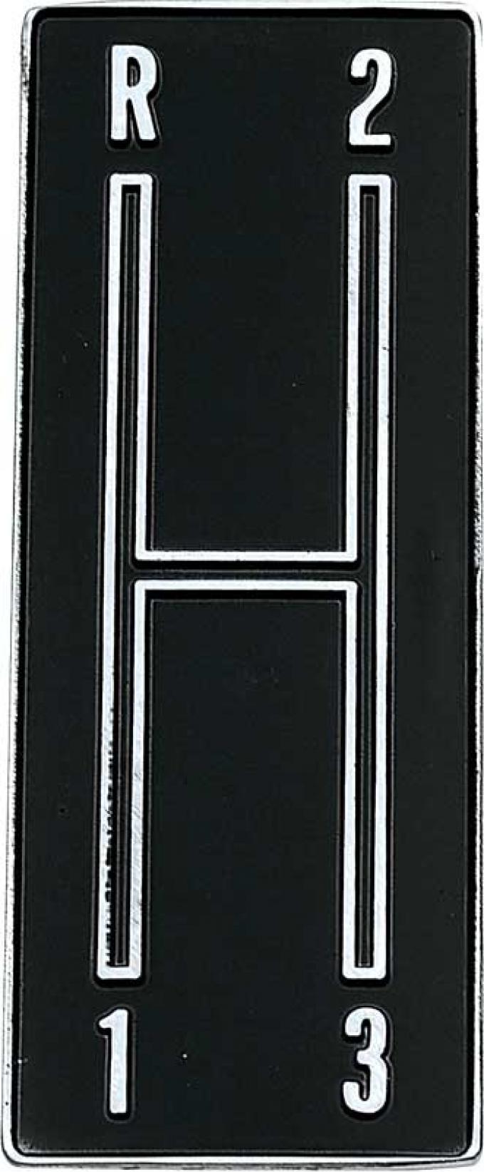 OER 1968-69 Camaro 3 Speed Console Shift Plate Emblem 3919121