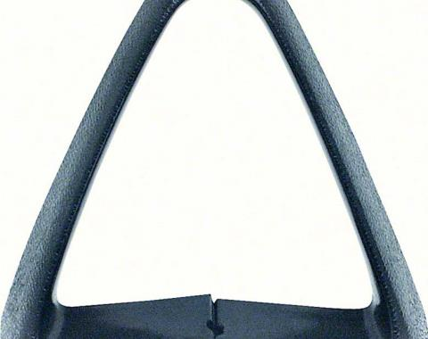 OER 1977-81 Bucket Seat Belt Guide - Black - Triangle - Each 9737575