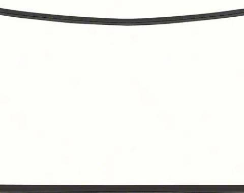 OER 1977-81 Camaro / Firebird Rear Window Molding Set - Black - 4 Piece K138