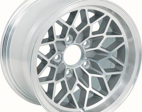 "OER 1978-81 Firebird / Trans Am 15"" X 8"" Aluminum Snowflake Wheel - Silver 251582"