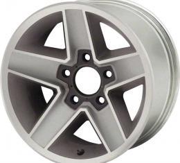 """OER 1982-87 Camaro Z28 N90 15"""" x 7""""Aluminum Wheel 5 x 4-3/4"""" Bolt Pattern 4-1/4"""" Backspace - Each 12322686"""