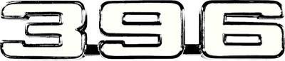 """OER 1969 """"396"""" Fender Emblem 3953629"""