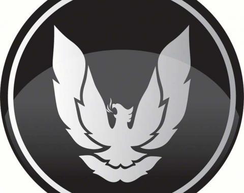 """OER R15 Wheel Center Cap Emblem 2-15/16"""" Diameter Firebird Black/Silver K151799"""