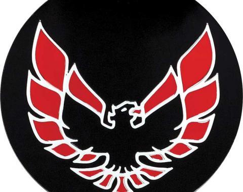 """OER 1982-83 Firebird Wheel Cap Emblem Red 2-1/8"""" diameter 527087"""