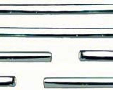 OER 1968 Camaro Rally Sport Lower Side Molding Set - 6 piece (fender-door-quarter) K4189