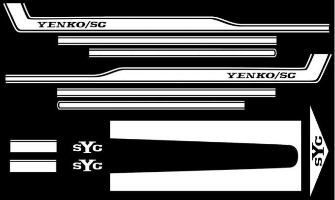 OER 1969 Camaro White SYC Yenko Stripe Set SK310
