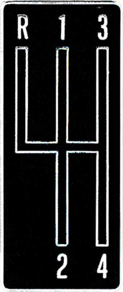 OER 1968-69 Camaro 4 Speed Console Shift Plate Emblem 3919122