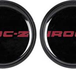 OER 1985-87 IROC-Z Wheel Center Cap Set Of 4 Red 748636