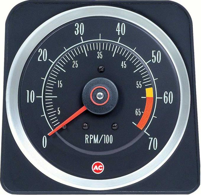 "OER 1969 Camaro 396/375HP, 427 6"" X 7"" Tach with 6000 Red Line 6469383"