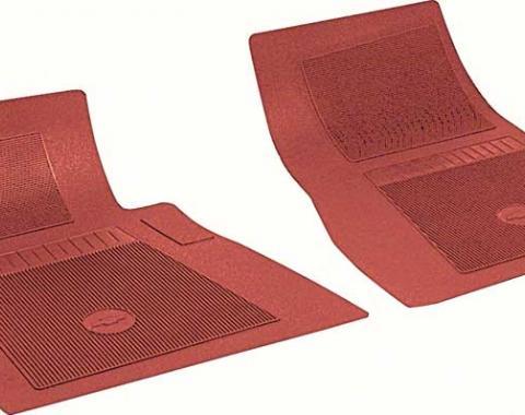 OER Chevrolet 2 Piece Red Front Bow Tie Floor Mat Set FP72002
