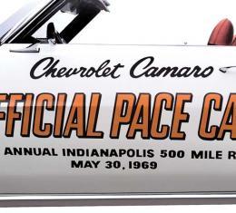 OER 1969 Camaro Indy 500 Pace Car Door Decal Set PC011