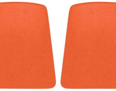 OER 1969 Camaro Hugger Orange Bucket Seat Back Panels K1011
