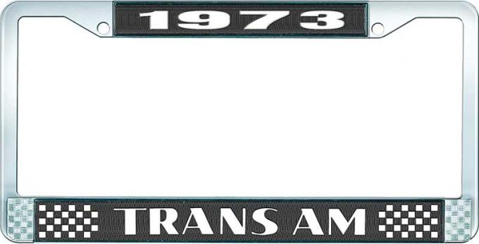 OER 1973 Trans Am Style #2 License Plate Frame Black and Chrome with White Lettering LF2337301A