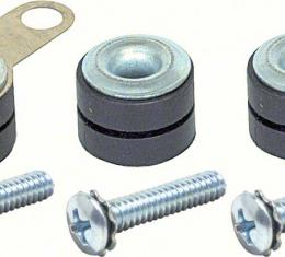 Windshield Wiper Motor Mounting Grommets, With Inserts, Ground Strap & Screws, 1967-1992