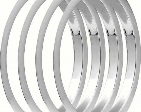 """OER 1970-81 Wheel Trim Ring Set - 15"""" x 7"""" - 5-Spoke Mag Wheel (Z/28) - 4 Piece Set *R1235"""