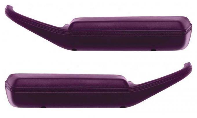OER 1974-81 Camaro / Firebird Arm Rest Pad / Door Pull Handles - Dark Carmine Red - Pair K74129