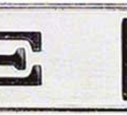 OER 1974-76 Camaro Type LT Sail Panel/Rear Panel Emblem with Mounting Pins 9633382