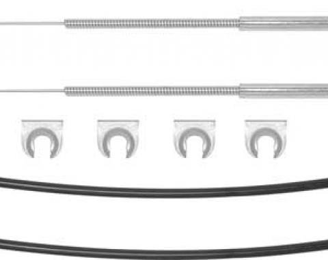 OER 1970-81 Camaro / Firebird Without AC Kick Panel Cable Set K4011