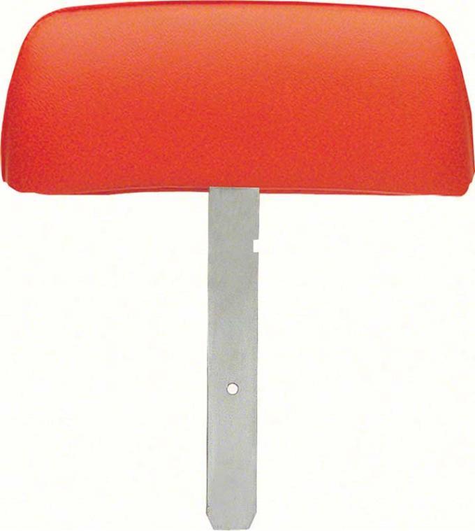 OER 1969 Camaro Hugger Orange Headrest Assemblies with Straight Bar K31011