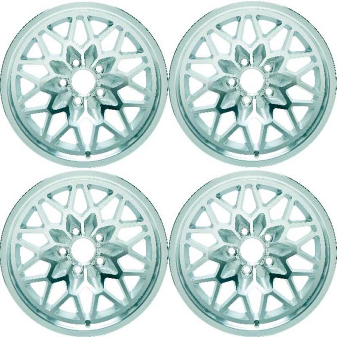 "OER 1978-81 Firebird / Trans AM 15"" X 8"" Cast Aluminum ""Snowflake"" Wheel Set With Silver accents *R4413"