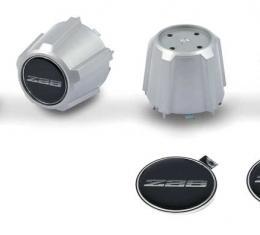 OER 1982-92 Camaro Z28 N90 Wheel Silver Center Cap With Domed Poly Black/Silver Z28 Logo - Set of 4 *881209