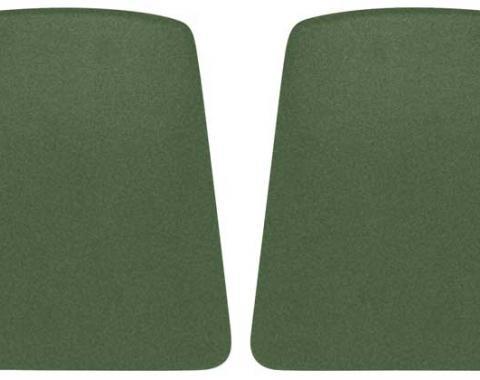 OER 1969-70 Camaro / Firebird Dark Green Bucket Seat Back Panels K1061