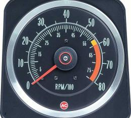 """OER 1969 Camaro Z28, 396/375Hp 6"""" X 8"""" Tach with 6000 Red Line with 8000 RPM Maximum 6469384"""