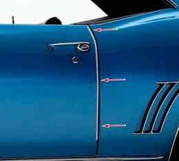 OER 1969 Camaro / Firebird Door Edge Guards K9344