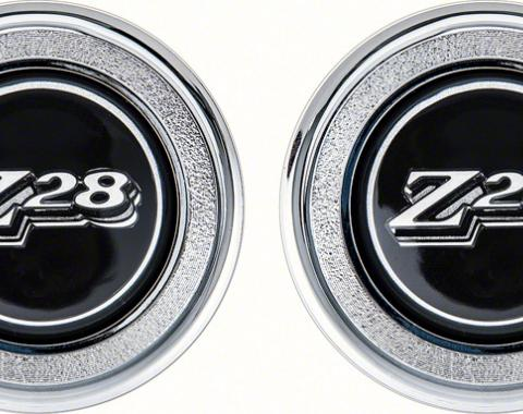 OER 1977-79 Camaro Black Z28 Interior Door Panel Emblems K74307