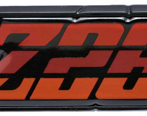 """OER 1980-81 Camaro """"Z28"""" Red Fuel Door Emblem 9637808"""