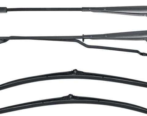 OER 1970-81 Wiper Arm and Blade Set - Recessed Wipers - Black *F308