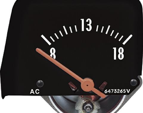 OER 1968-69 Camaro/1968-76 Nova Black Console Volt Gauge A912902