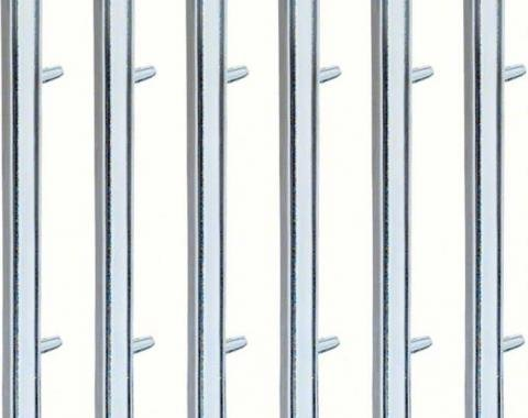 OER 1967-68 Firebird Rear Quarter Louver Trim Set (Second Design - W/O Black Stripe ) 4229997