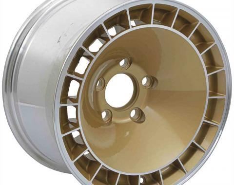 "OER 1967-81 Firebird / Trans AM 15"" X 8"" Turbine Wheel With Gold Finish 10013036"