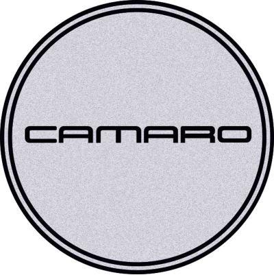 "OER 2-15/16"" R15 Wheel Center Cap Emblem with Black Camaro Logo and Silver Background K151797SV"